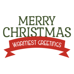 Merry christmas ribbon label