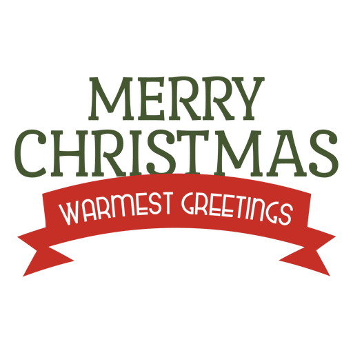 Merry christmas ribbon label Transparent PNG