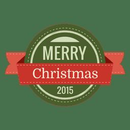 Feliz Navidad redondeado placa