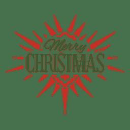 Etiqueta tipográfica de feliz navidad