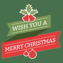 Feliz navidad deseo insignia vintage