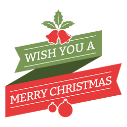 Merry christmas wish vintage badge