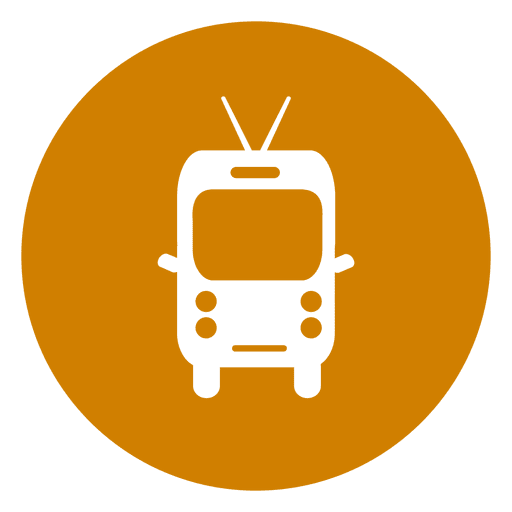 Ícone de círculo de viagens de microônibus Transparent PNG
