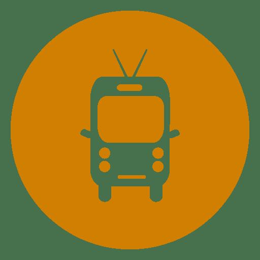 Minibus travel circle icon Transparent PNG