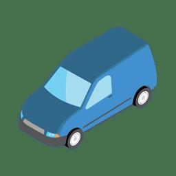 Minivan shipment icon