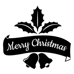 Mistletoe ribbon christmas seal
