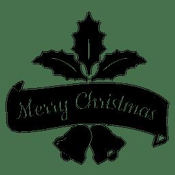 Mistletoe ribbon christmas seal