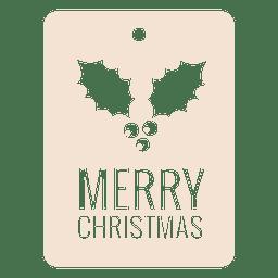 Mistletoe square christmas tag