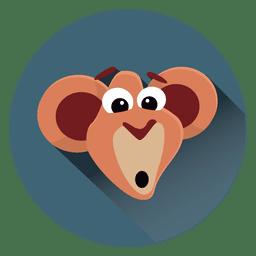 Icono de círculo de dibujos animados mono