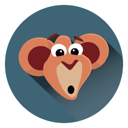 Monkey cartoon circle icon