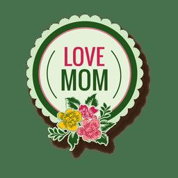 Etiqueta del día de la madre