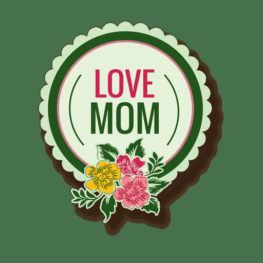 Etiqueta del día de la madre Transparent PNG
