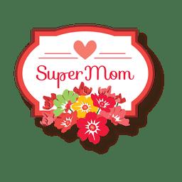 Insignia del día de las madres con flores.
