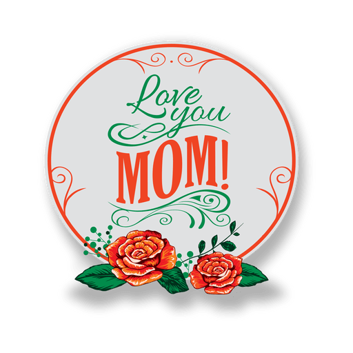 Mothers day badge png