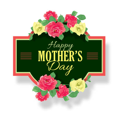Mothers day label Transparent PNG