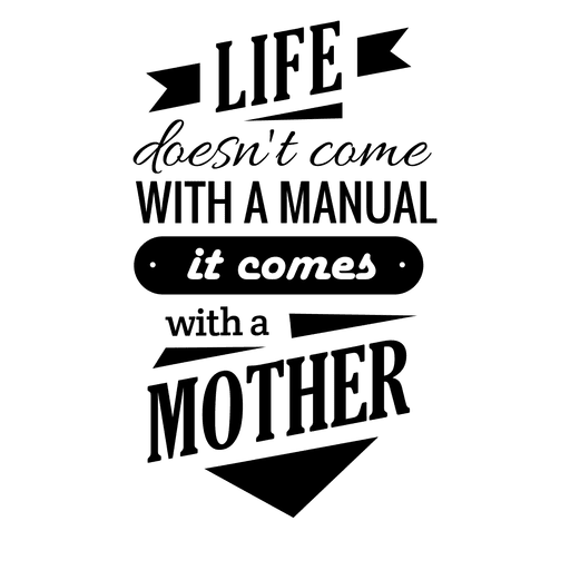 Mothers day quote Transparent PNG