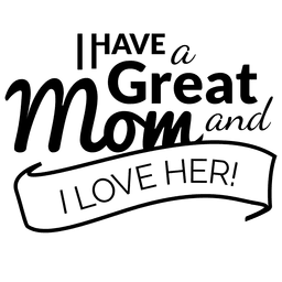 Mothers day quote on label
