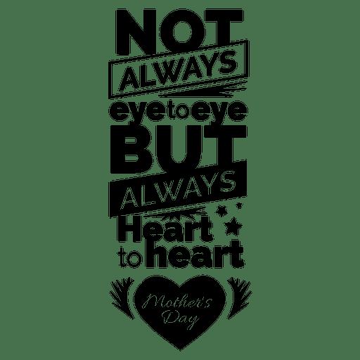 Muttertag Schriftzug Zitat Transparent PNG