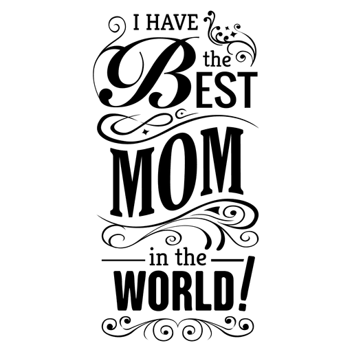 Mothers day quote with ornaments Transparent PNG