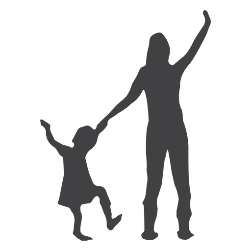 Mothers day silhouette Transparent PNG