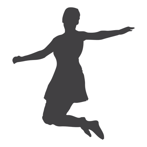 Woman jumping silhouette Transparent PNG