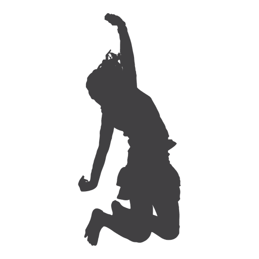 Happy woman jumping silhouette Transparent PNG