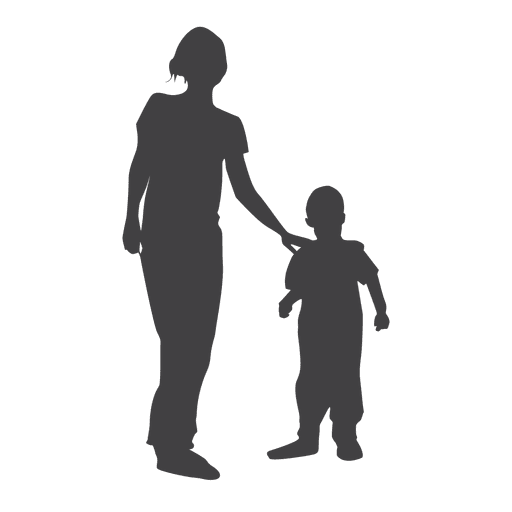Love The Mother Child Silhouette: Transparent PNG & SVG Vector