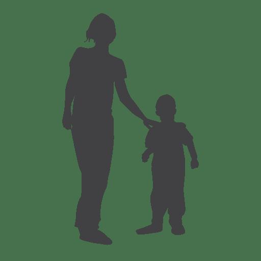 Silueta de la madre y el niño Transparent PNG