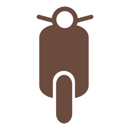 Motor bike icon silhouette Transparent PNG
