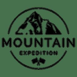emblema da montanha de campismo
