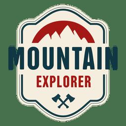 Distintivo vintage de explorador de montanha
