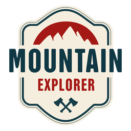 Mountain explorer vintage badge