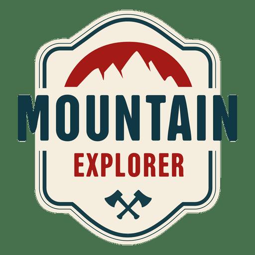 Distintivo vintage de explorador de montanha Transparent PNG