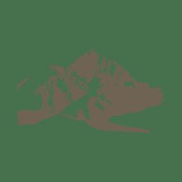 Silhueta de desenho de montanha