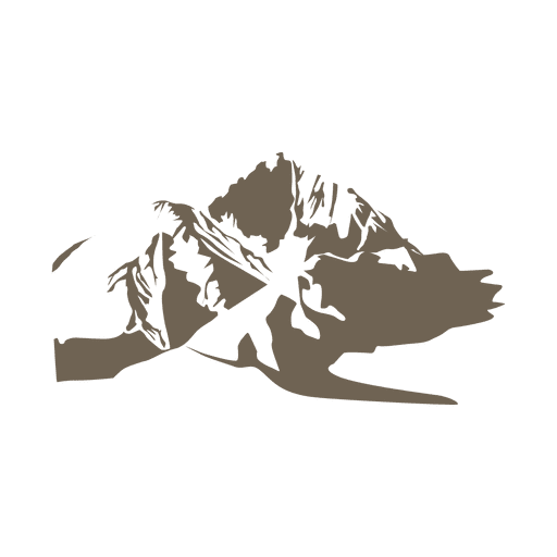 Mountain sketch silhouette Transparent PNG