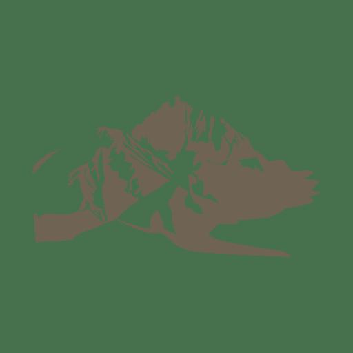 Mountain sketch silhouette
