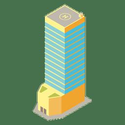 Torre isométrica de varios pisos
