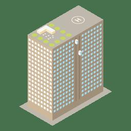 Ícone de edifício isométrico de multistoried