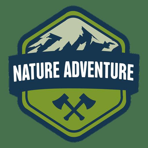 Emblema sextavado aventura natureza Transparent PNG