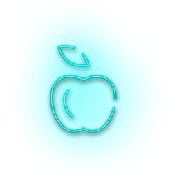 Neon blue apple icon