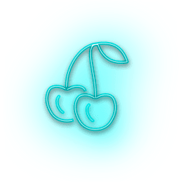 Néon azul alegre ícone