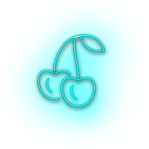Neon blue cheery icon Transparent PNG