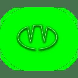 Ícone de pão verde néon