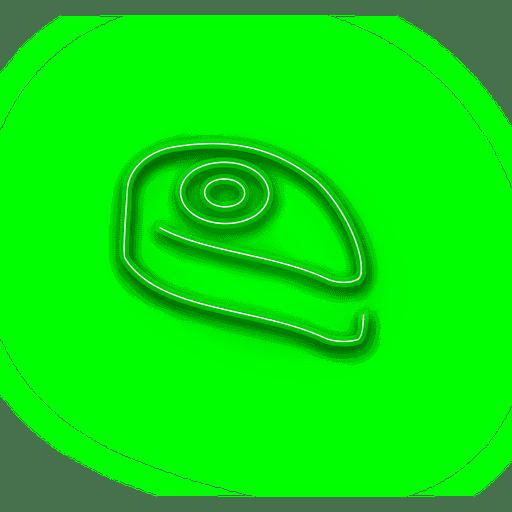 Icono de pastel verde ne?n