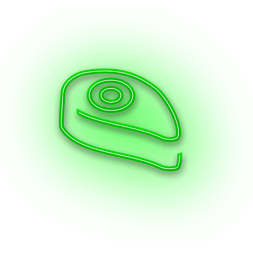 Neon green cake icon Transparent PNG