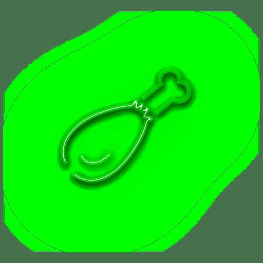 Ícone de assado verde néon Transparent PNG