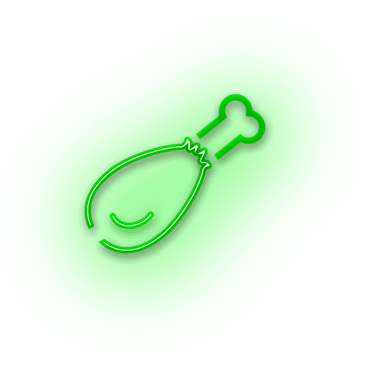 Neon green roast icon Transparent PNG