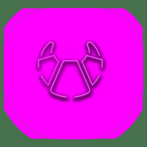 Icono de croissant rosa ne?n