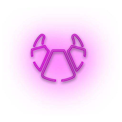 Neon pink croissant icon Transparent PNG