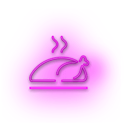 Neon purple turkey icon